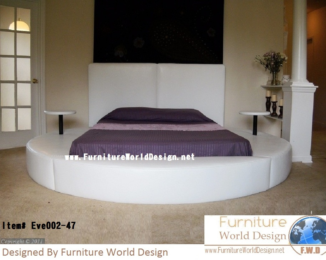 modern queen size eve round bed - Circle Beds Furniture