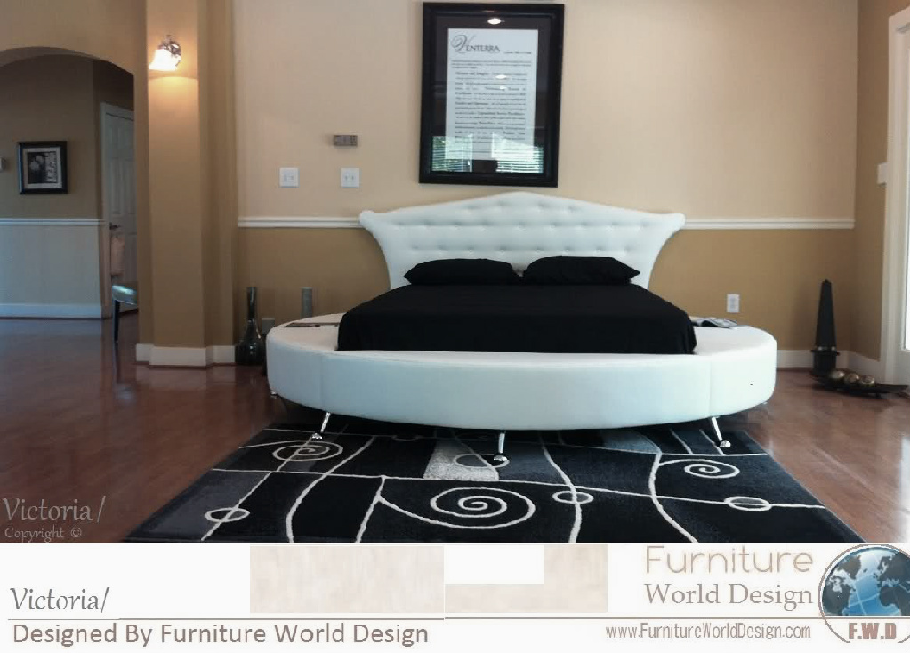 victoria round bed - Circle Beds Furniture